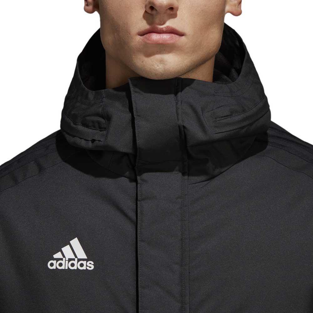 a6988ede663f adidas Stadium Parka 18 Black buy and offers on Goalinn