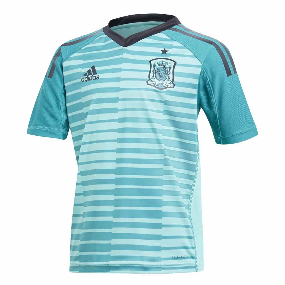 dcf3b1090 adidas Spain Home Goalkeeper Kit 2018 Junior Green, Goalinn