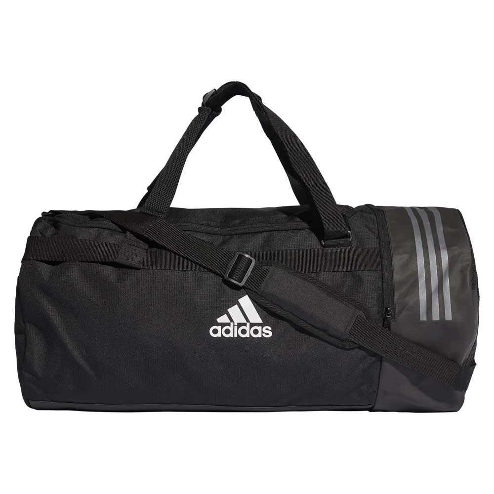 6bb108104d adidas Convertible 3 Stripes Duffel L Black