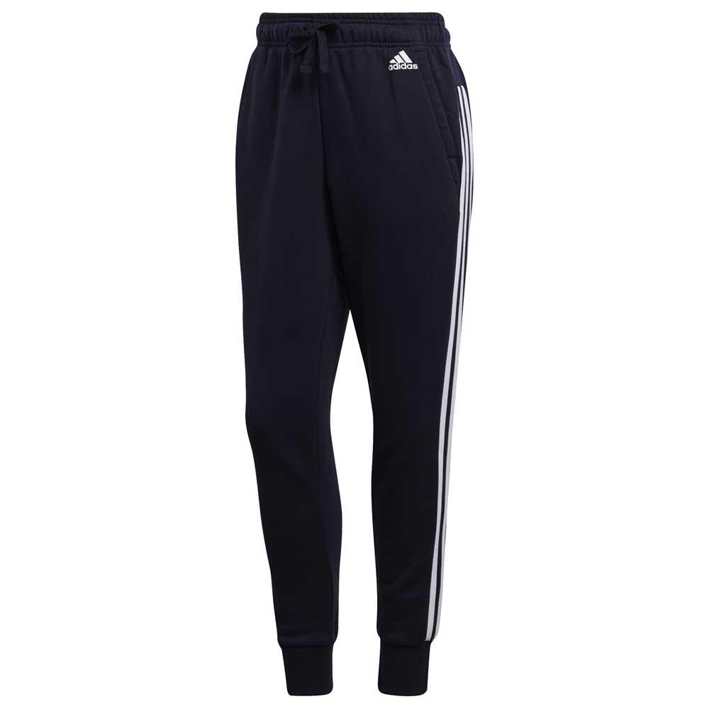 207179fe418fe adidas Essentials 3 Stripes Tapered Pants Bleu, Goalinn