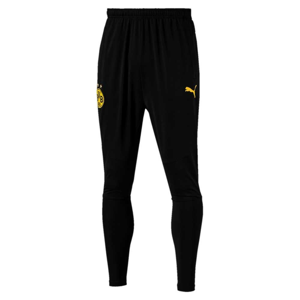 Puma BVB BORUSSIA DORTMUND TRAINING PANTS TAPERED WITH POCKETS - Equipación de clubes - puma black 8sVJnIqV72