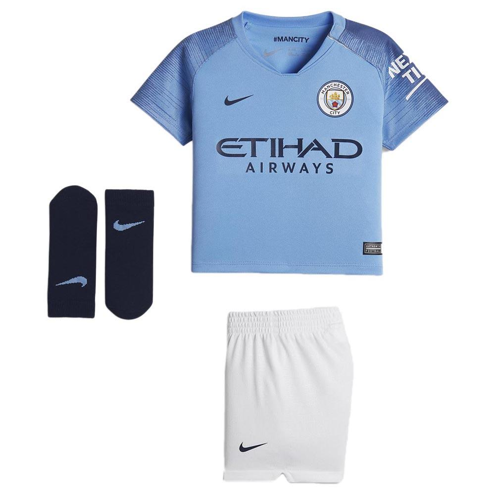 Nike Manchester City Fc Home Breathe Kit Infant Azul Goalinn Futebol