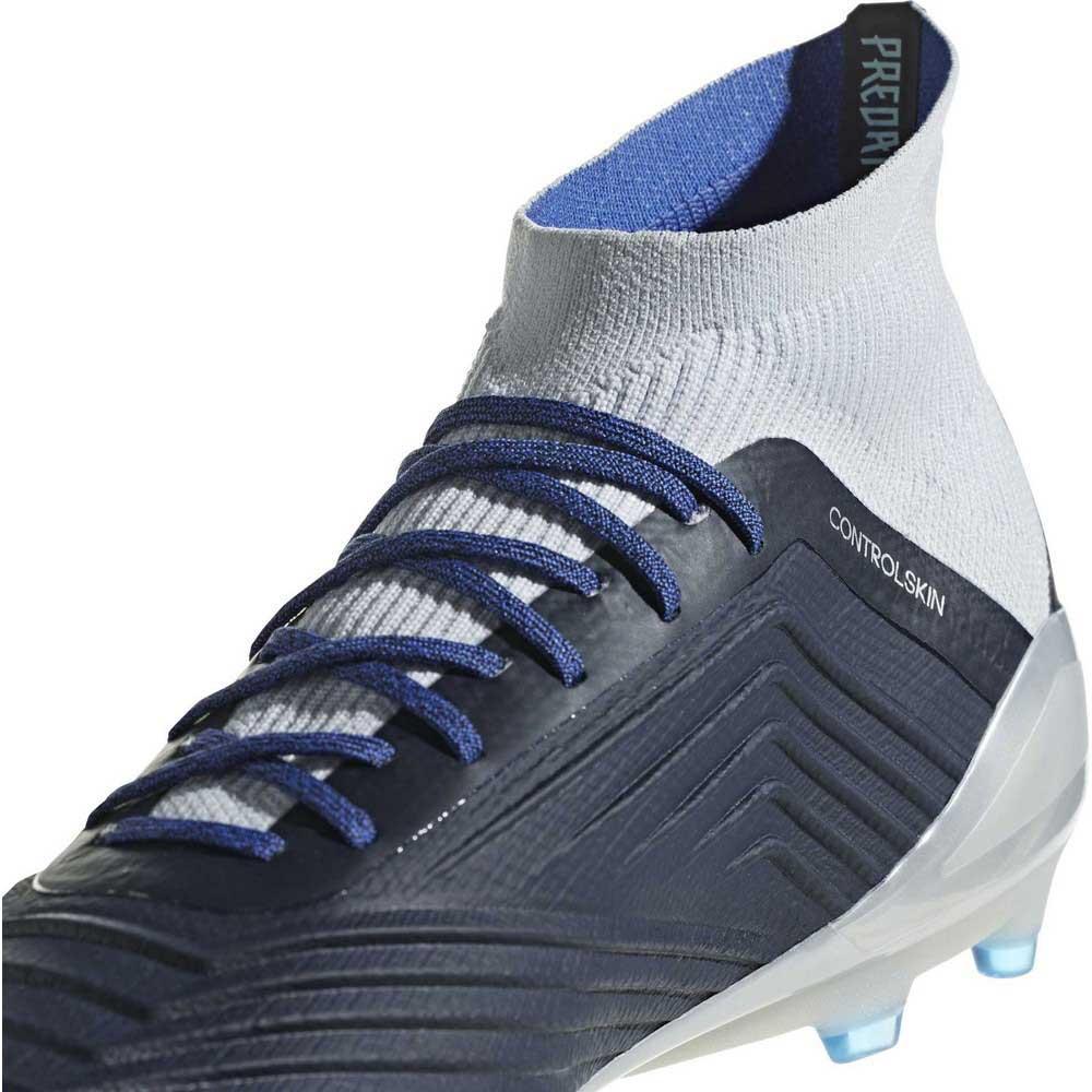 wholesale adidas copa 18.1 fg white black blue billig