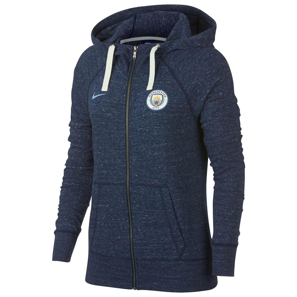 Nike Manchester City FC Gym Vintage Crew Hooded Top Woman