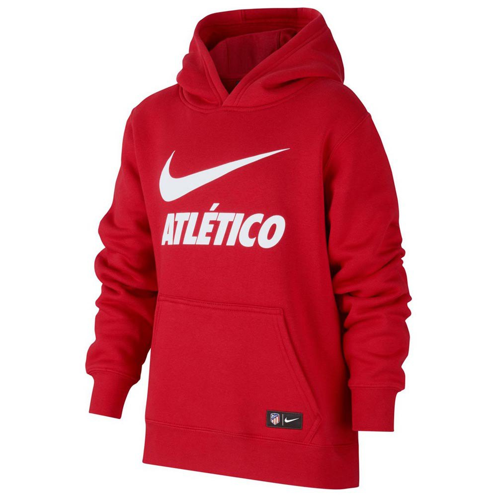 Nike Atletico Madrid Crew Hooded Pullover Junior
