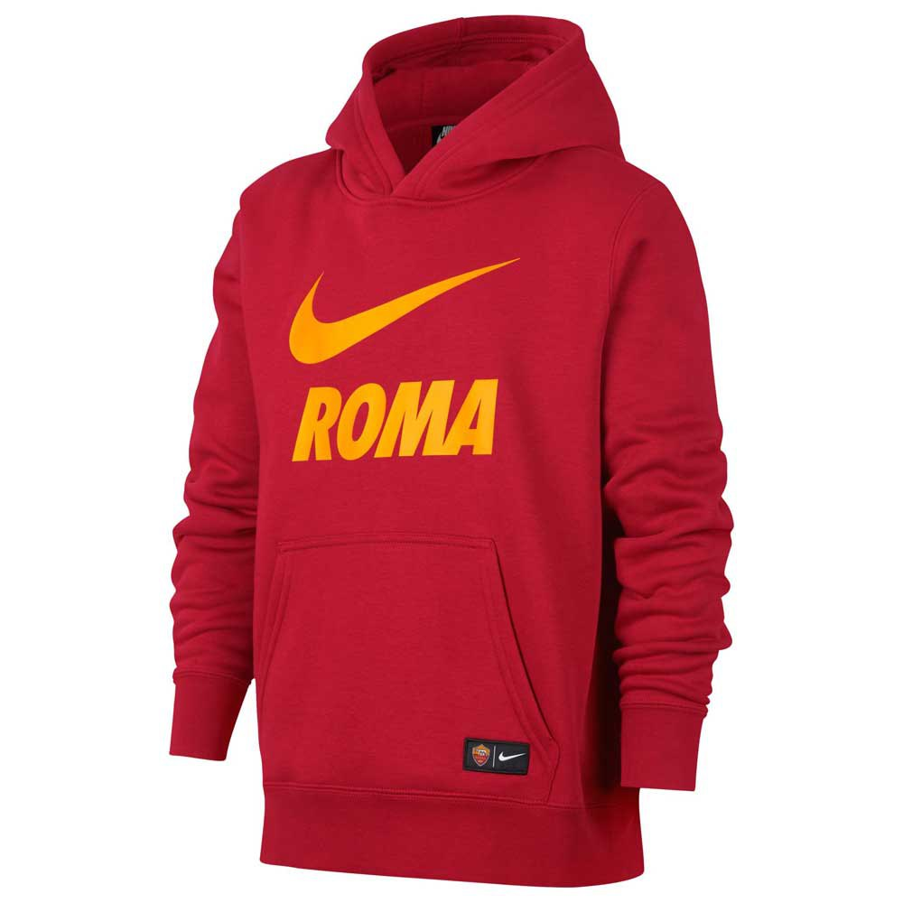 Nike AS Roma Crew Hooded Pullover Junior