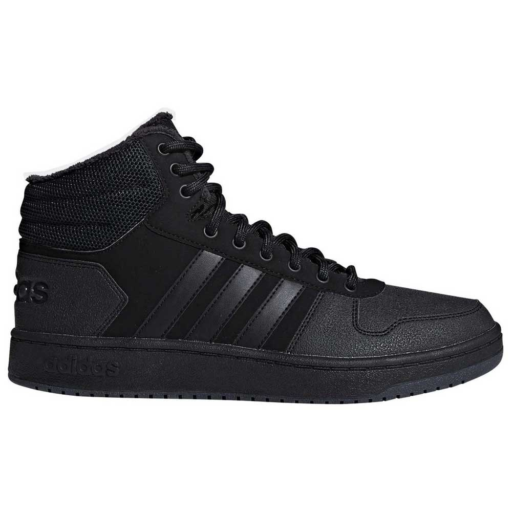 46a5595c31f4 adidas Hoops 2.0 Mid Black buy and offers on Goalinn