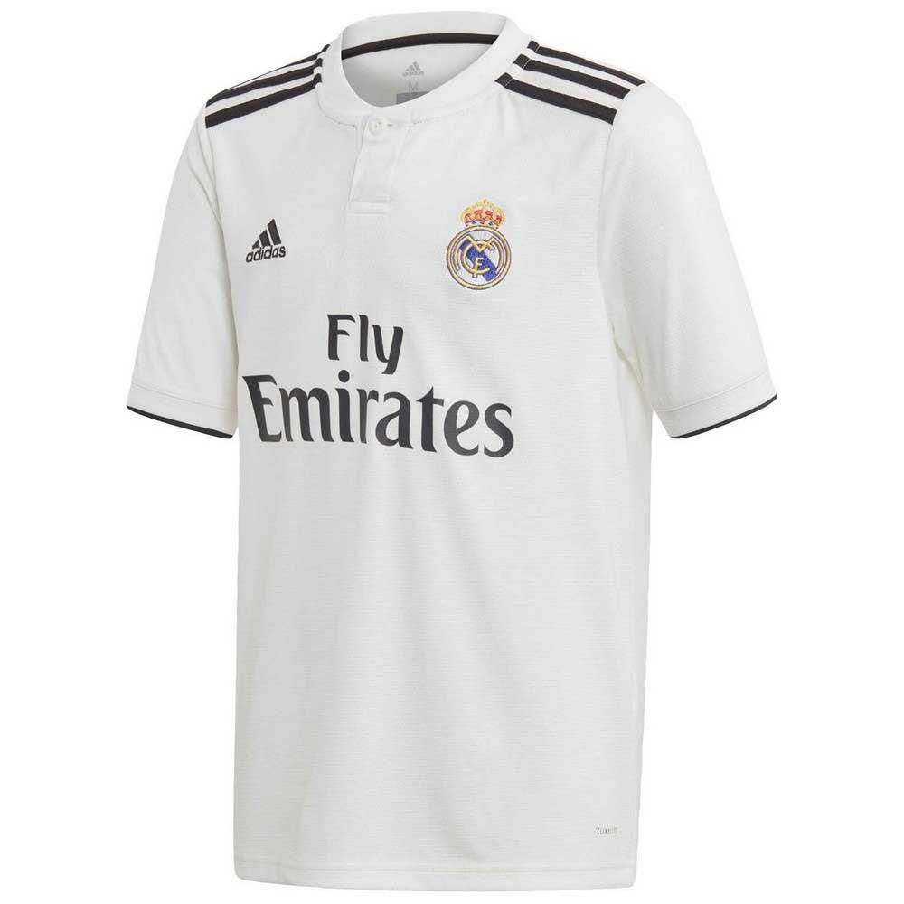 adidas Real Madrid Kids SS Home Shirt 2018 19  7ec345e20