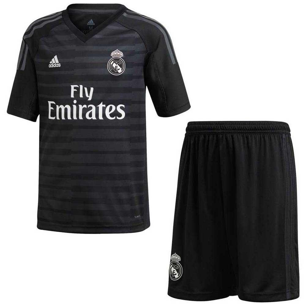 111f6b9dcde88c adidas Real Madrid Home Goalkeeper Kit 18/19 Czarny, Goalinn Piłka nożna
