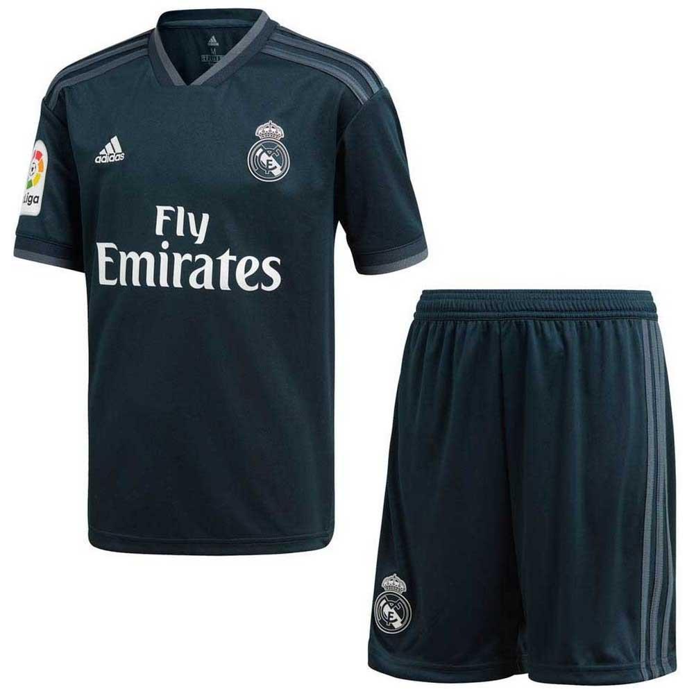 Adidas Real Madrid Away Kit 18 19 Junior Black Goalinn