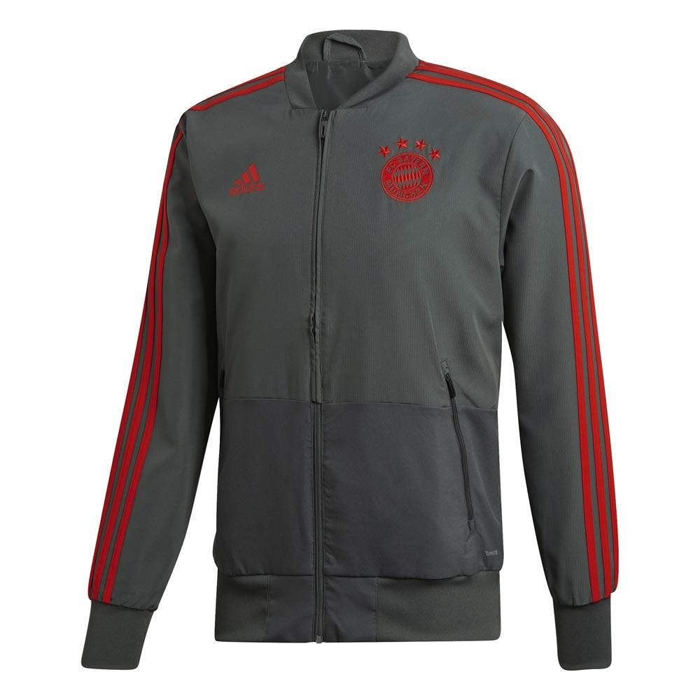 adidas fc bayern munich presentation jacket grey goalinn. Black Bedroom Furniture Sets. Home Design Ideas