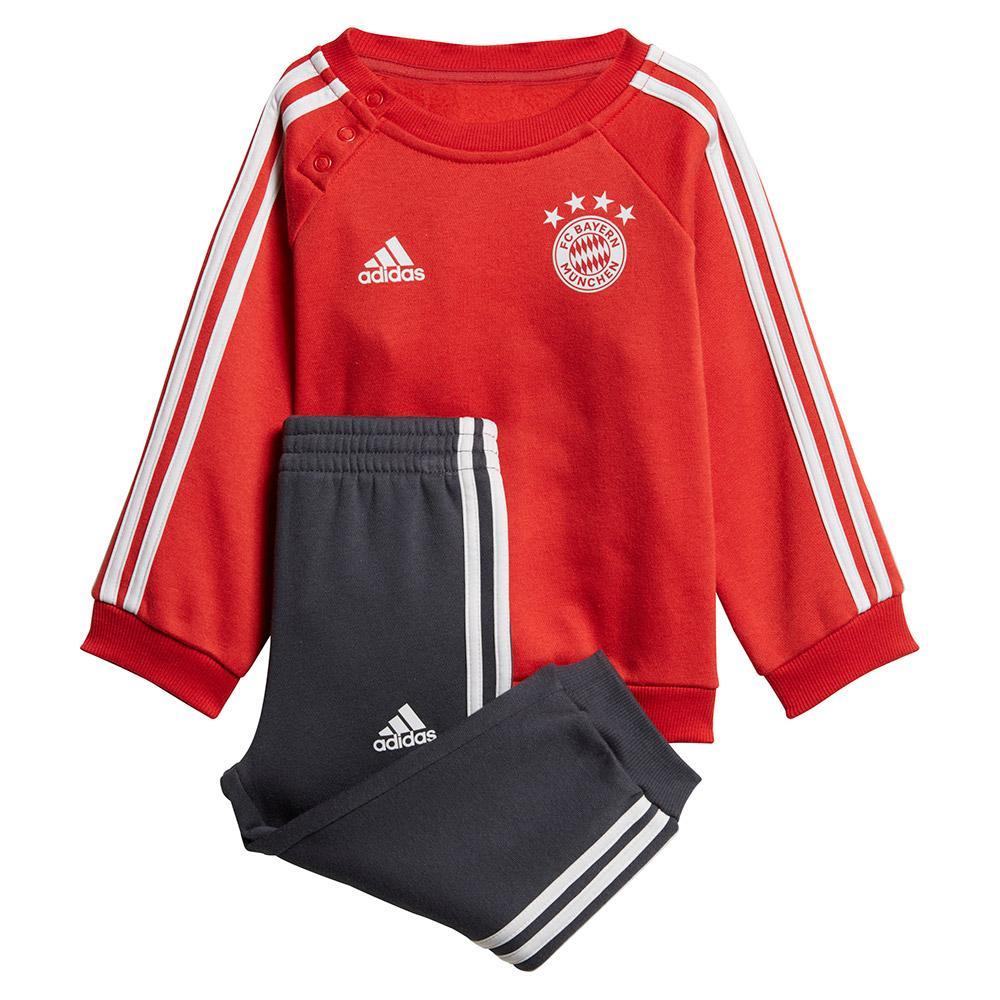 ea6444f4d27 adidas FC Bayern Munich 3 Stripes Jogger 18 19 Red