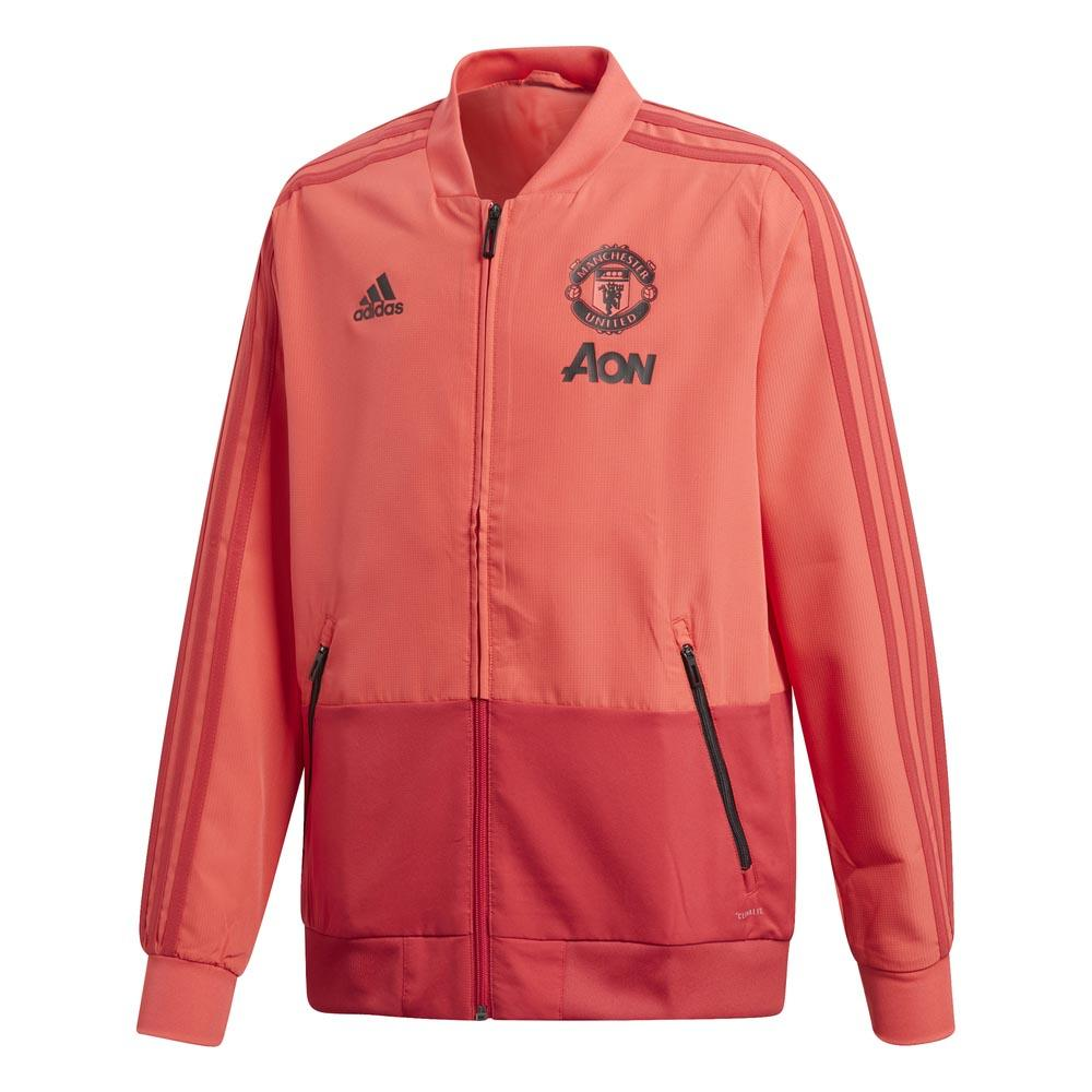 adidas Manchester United FC Presentation Jacket Junior Red