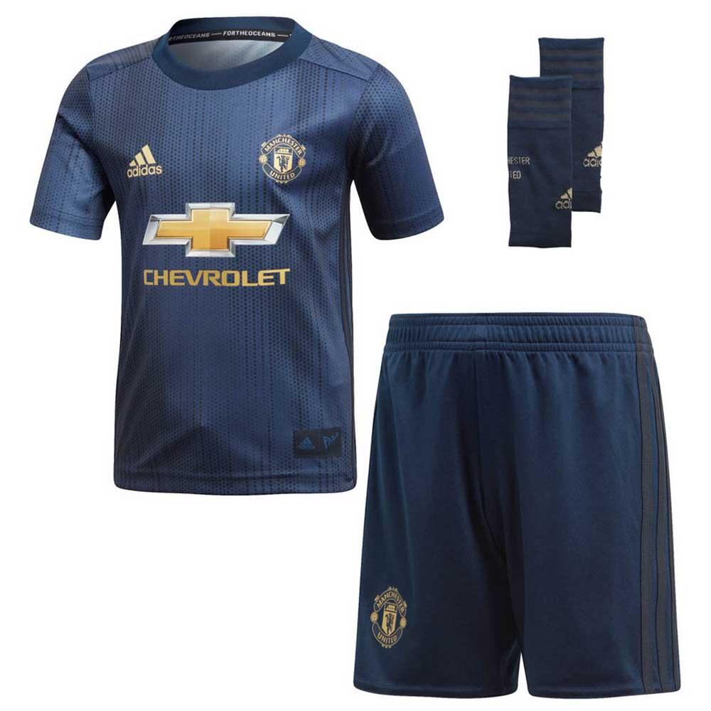 adidas Manchester United FC 3rd Kit 18 19 Blue e96deaf5a9906
