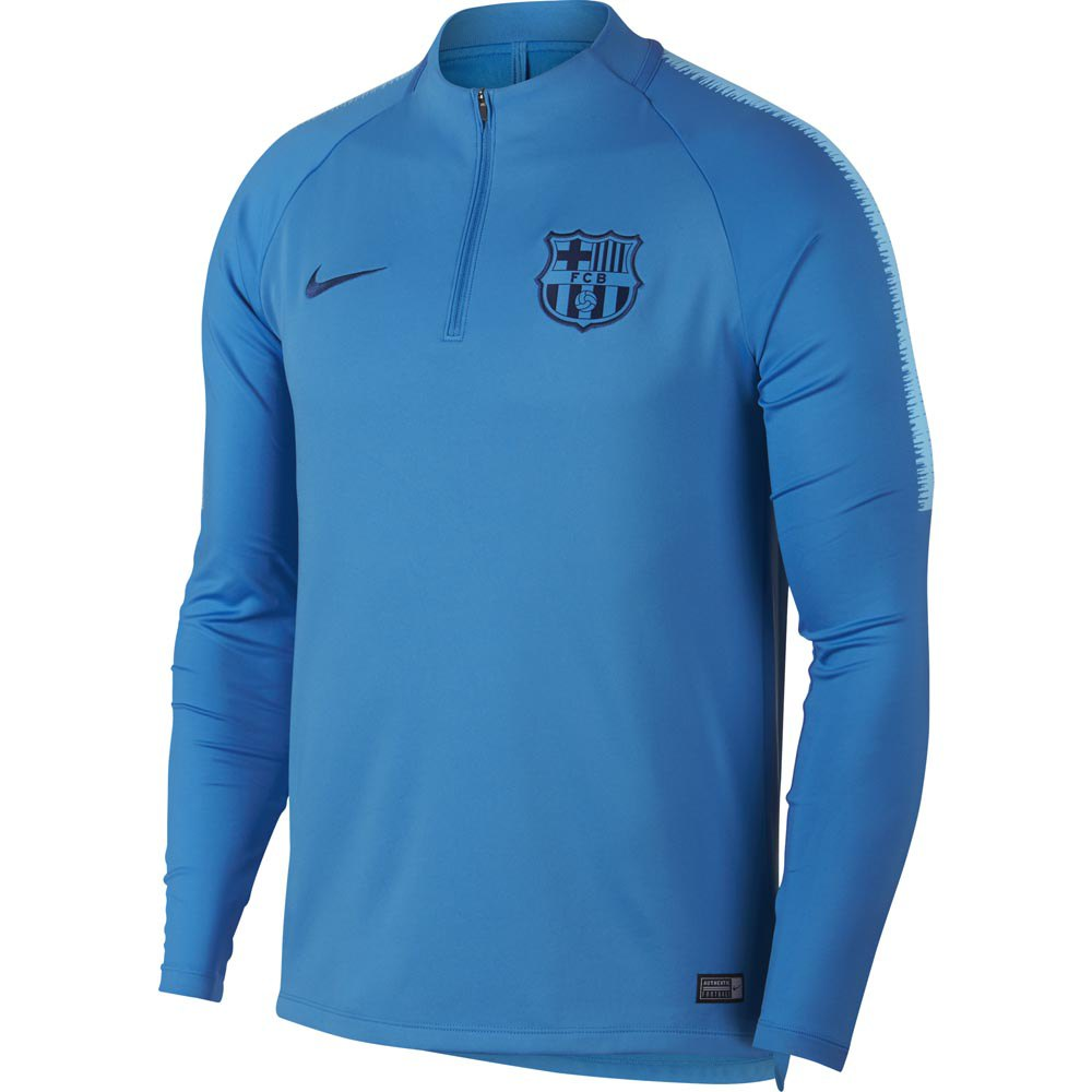 hazlo plano Vueltas y vueltas audible  Nike FC Barcelona Dri Fit Squad Drill 18/19 Blue, Goalinn