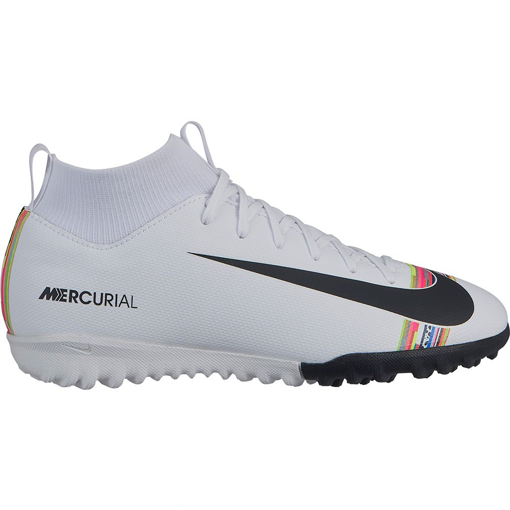 26716340 Nike Mercurial Superfly VI Academy CR7 GS TF White, Goalinn