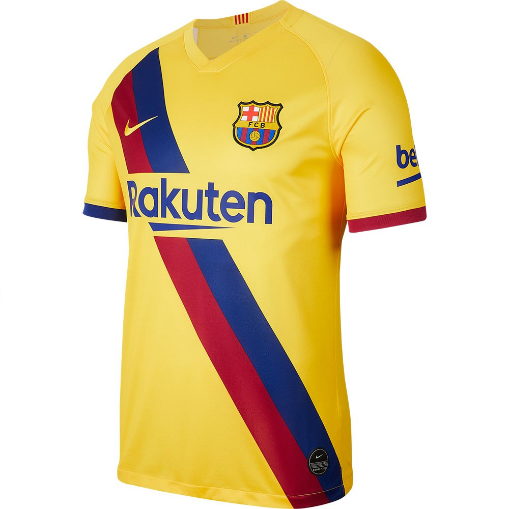 Personas con discapacidad auditiva Miguel Ángel Preocupado  Nike FC Barcelona Away Breathe Stadium 19/20 Yellow, Goalinn