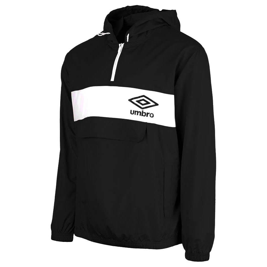 Vestes Umbro Panelled 1/2 Zip Cagoule L Black / Brilliant White