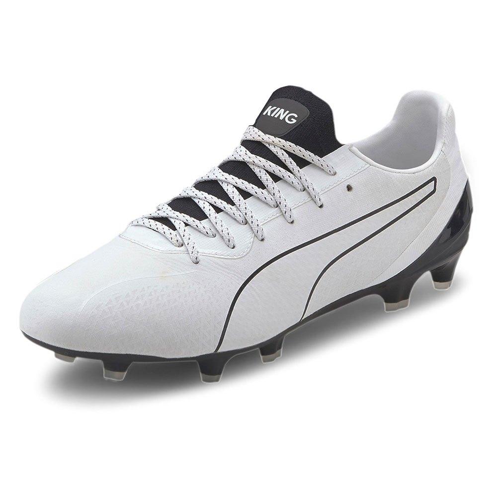 Puma King Platinum Lazertouch FG/AG Football Boots White, Goalinn