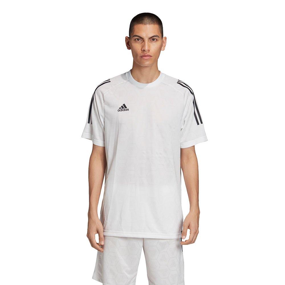 adidas Tango Jacquard Short Sleeve T-Shirt White, Goalinn