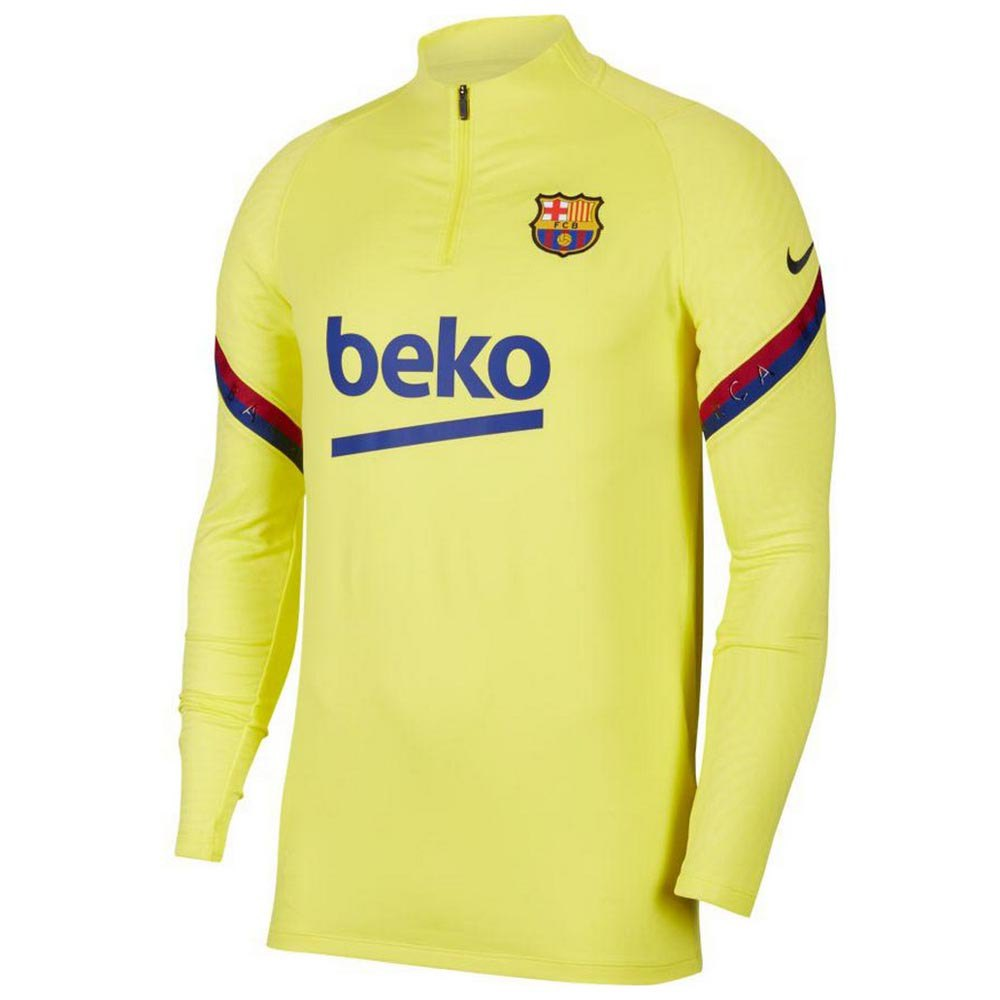 champán Maniobra Dato  Nike FC Barcelona Dri Fit Strike Drill 19/20 Yellow, Goalinn