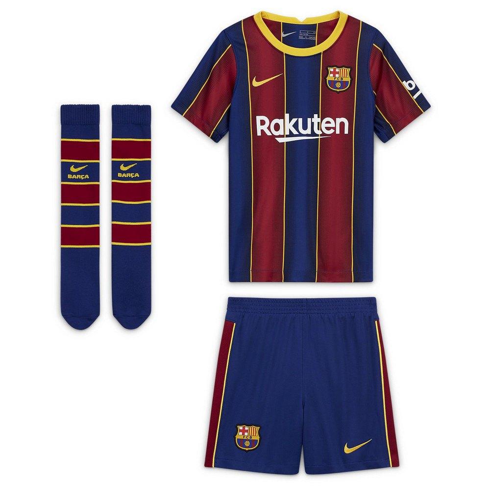 Nike Fc Barcelona Home Breathe Kit 20 21 Little Kid Red Goalinn