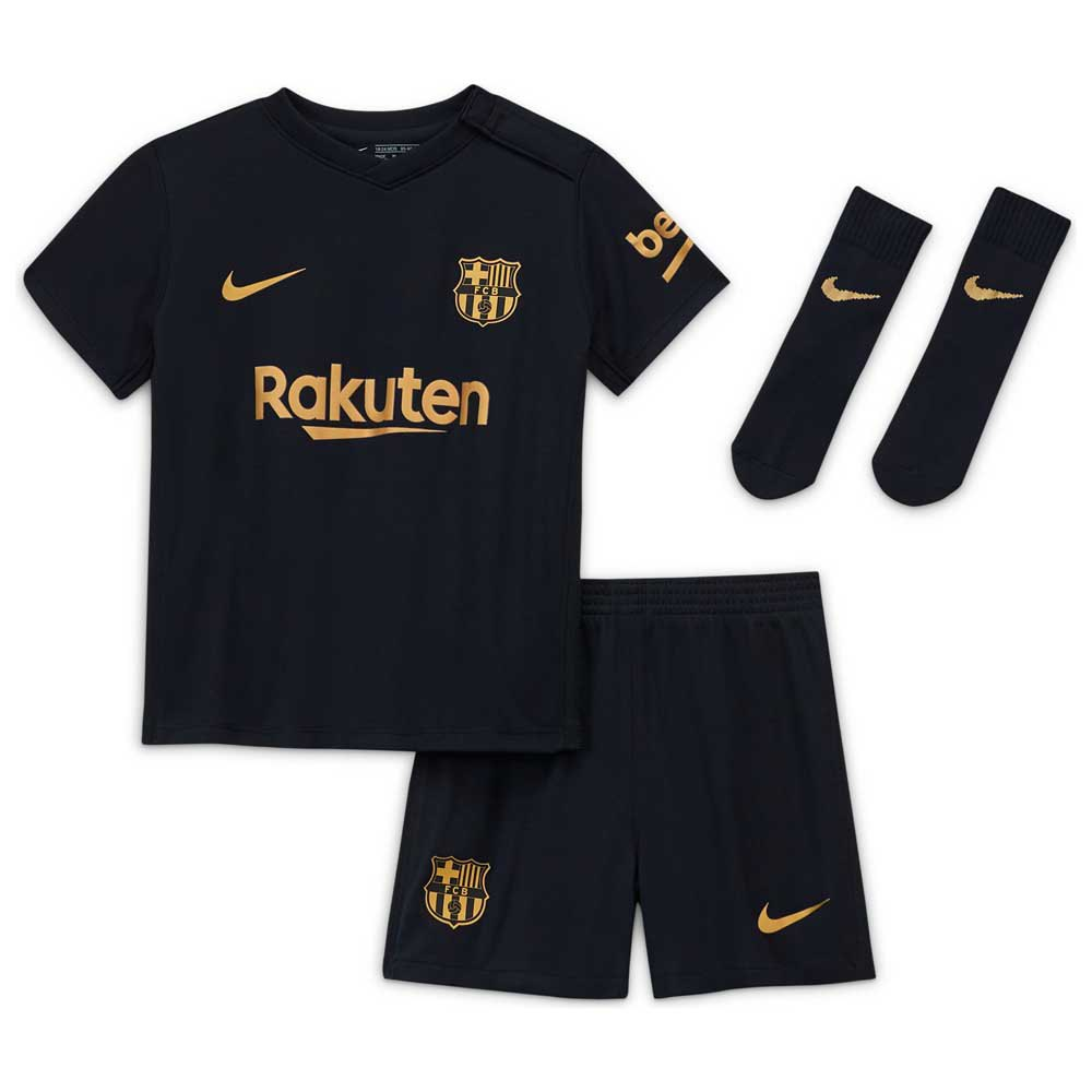 calificación vocal Dispuesto  Nike FC Barcelona Away Breathe Infant Kit 20/21 Black, Goalinn