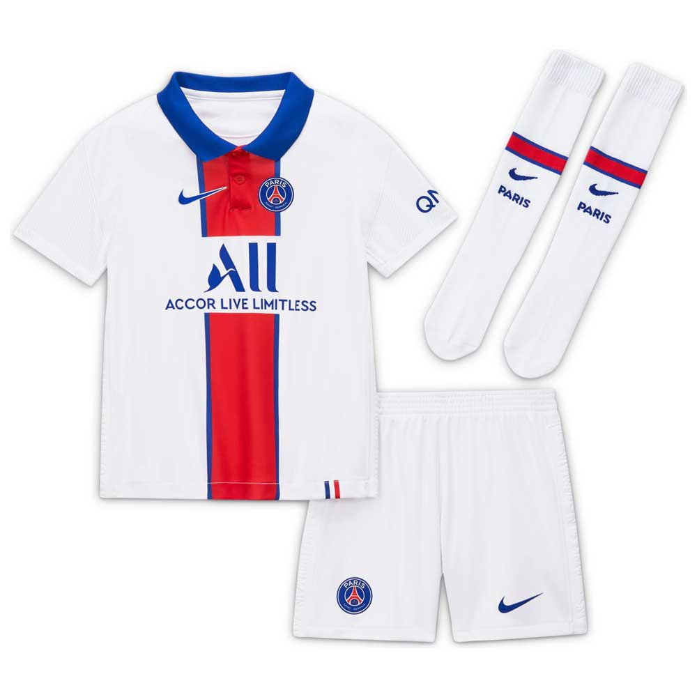 Nike Paris Saint Germain Away Little Kid Breathe 20 21 White Goalinn