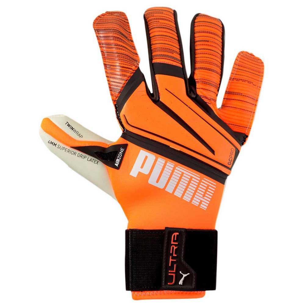 Puma Ultra Grip 1 Hybrid Pro Goalkeeper Gloves Orange, Goalinn