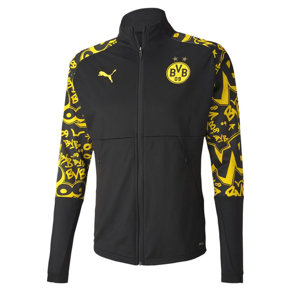 Puma Borussia Dortmund Stadium 20/21 Jacket Black, Goalinn