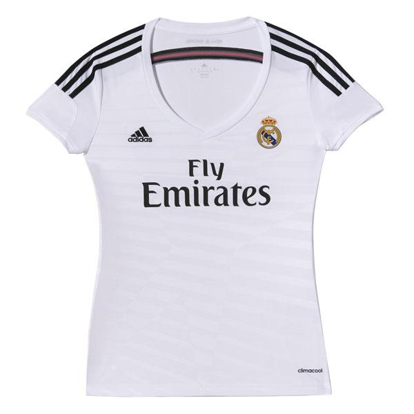 adidas t shirt real madrid woman comprar y ofertas en goalinn. Black Bedroom Furniture Sets. Home Design Ideas