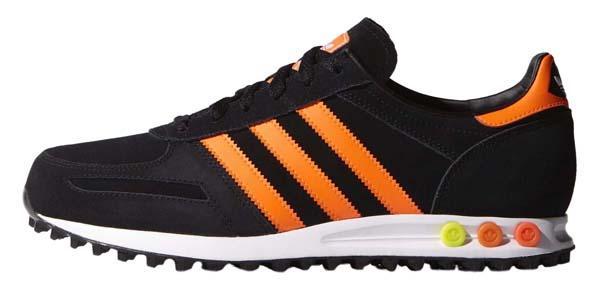 adidas la trainer noir et orange