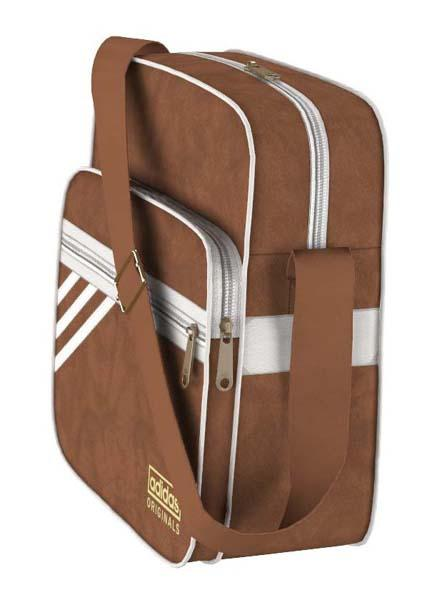 adidas brown leather bag