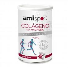 Amlsport Colageno con Magnesio Vit C+Vit B1+B2+B6 Strawberry Box 6 Units